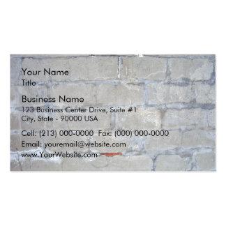 Pared de ladrillo gris dañada tarjetas de visita