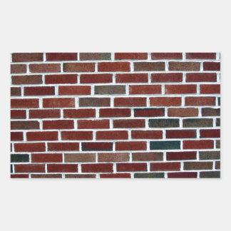 Pared de ladrillo multicolora rectangular altavoz
