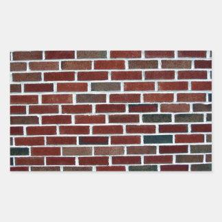 Pared de ladrillo multicolora rectangular altavoces