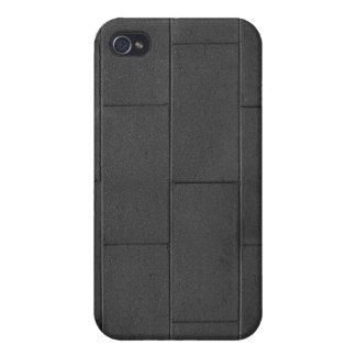 Pared de ladrillo - oscura alise iPhone 4 protectores