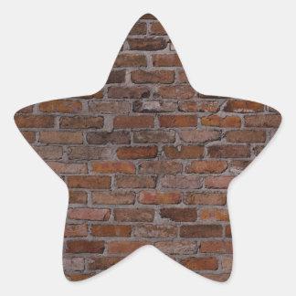 Pared de ladrillo pegatina en forma de estrella