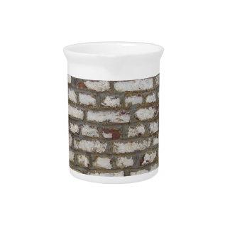 Pared de ladrillo pintada jarrón