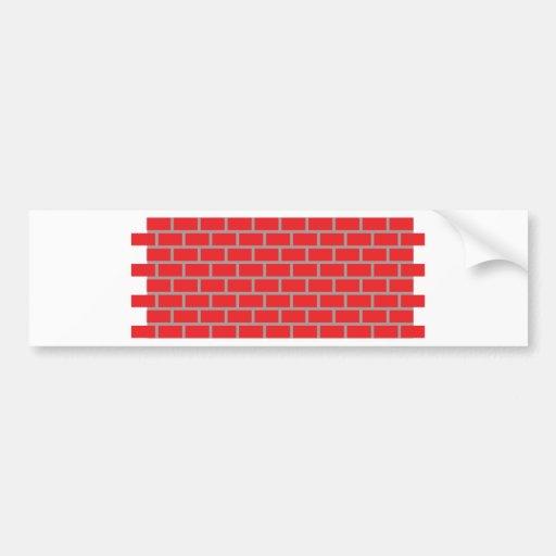 pared de ladrillo roja etiqueta de parachoque