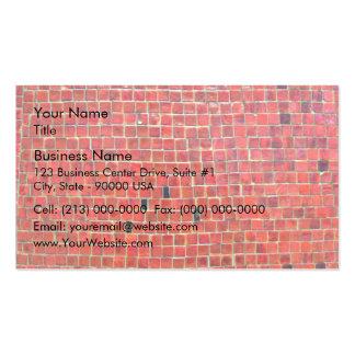 Pared de ladrillo roja envejecida con variaciones tarjeta de visita