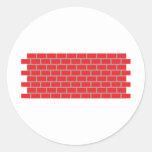 pared de ladrillo roja etiqueta redonda