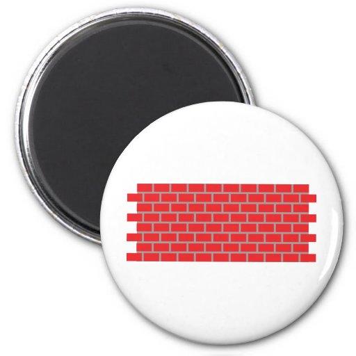 pared de ladrillo roja imanes de nevera