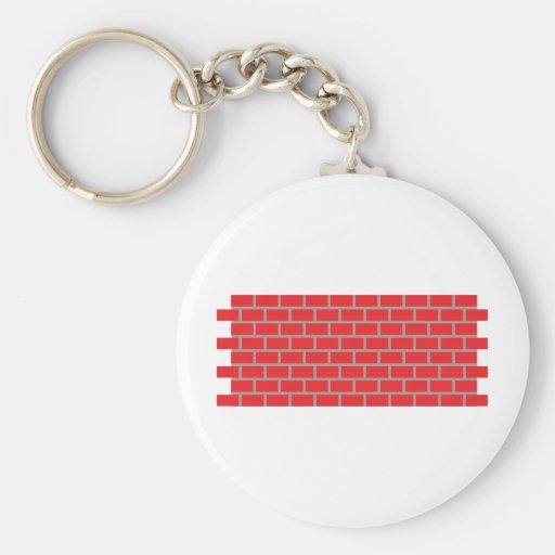 pared de ladrillo roja llavero