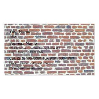 Pared de ladrillo roja moderna y línea blanca text tarjetas de negocios
