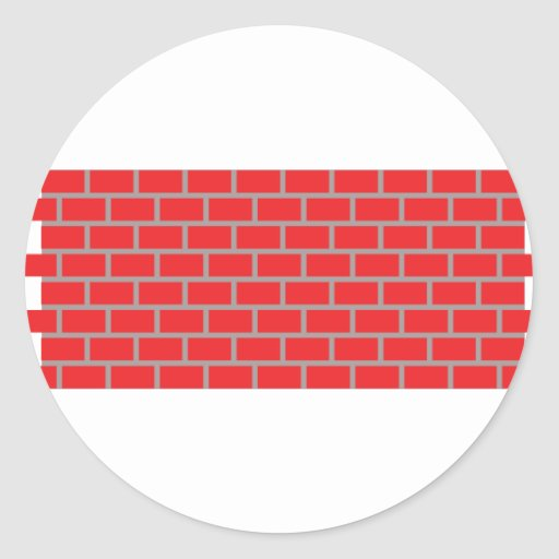 pared de ladrillo roja pegatinas redondas
