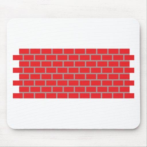 pared de ladrillo roja tapete de ratón