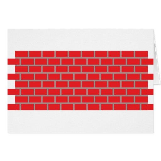 pared de ladrillo roja felicitación