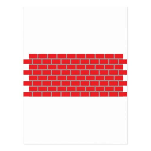 pared de ladrillo roja tarjeta postal