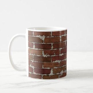 Pared de ladrillo roja taza clásica
