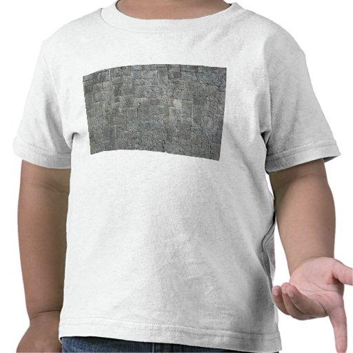 Pared de ladrillo sucia de Grunged Camisetas