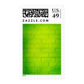 Pared de ladrillo verde sucia sellos