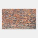 Pared de ladrillo vieja adaptable rectangular pegatinas