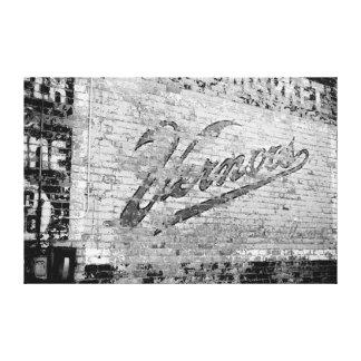 Pared de ladrillo vieja de Ann Arbor Michigan Impresión En Tela