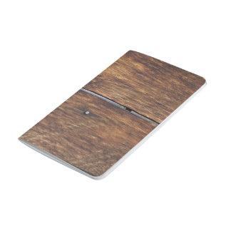 Pared de madera cuaderno grapado