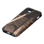 Pared de madera del granero de los tablones de Bro iPhone 5 Case-Mate Cárcasa