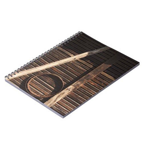 Pared de madera del granero de los tablones de Bro Libretas