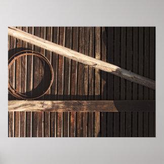 Pared de madera del granero de los tablones de Bro Posters