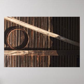 Pared de madera del granero de los tablones de Bro Impresiones
