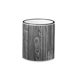 Pared de madera negra taza de dos colores