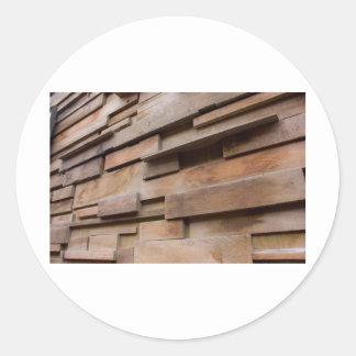 Pared de madera pegatina redonda