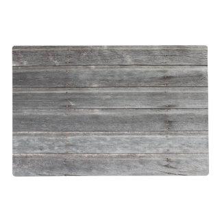 Pared de madera resistida rústica tapete individual
