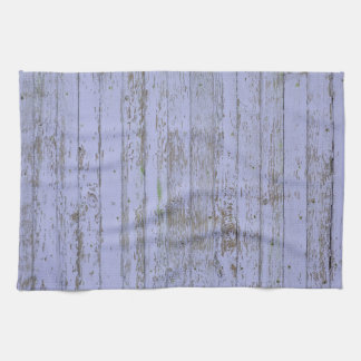 Pared de madera vieja de la pintura azul toalla de cocina