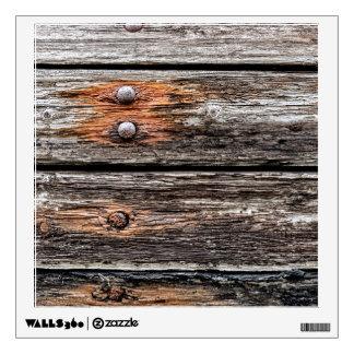 Pared de madera vieja vinilo