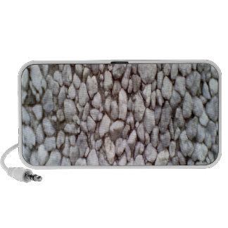 Pared de piedra laptop altavoces