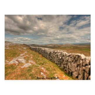 Pared de piedra de Burren Tarjetas Postales