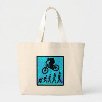 Pared de piedra de la bici bolsas lienzo
