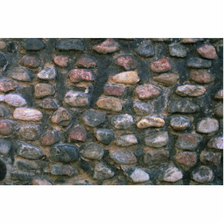 Pared de piedra de la iglesia fotoescultura vertical