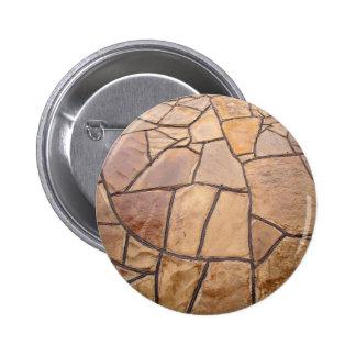 Pared de piedra decorativa con la opinión pin redondo 5 cm