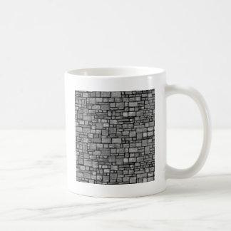 Pared de piedra desigual gris taza clásica