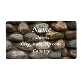 Pared de piedra etiqueta de envío