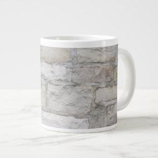 Pared de piedra gris taza grande