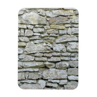 Pared de piedra gris vieja imán rectangular