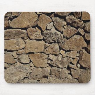 Pared de piedra hermosa alfombrilla de raton