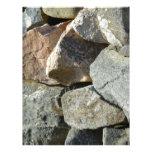 Pared de piedra membretes personalizados