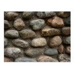 Pared de piedra postal