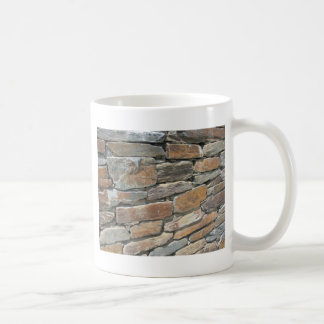 Pared de piedra rústica taza