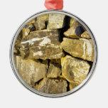 Pared de piedra seca irlandesa ornamento para arbol de navidad