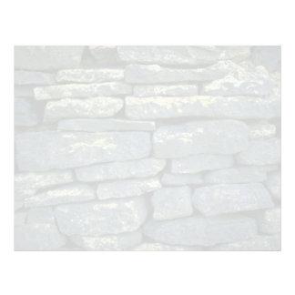 Pared de piedra seca membrete a diseño