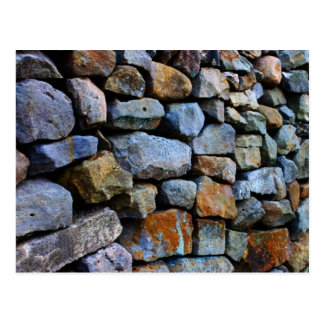 Pared de piedra seca postal