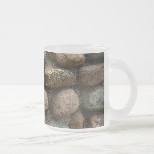 Pared de piedra taza de café