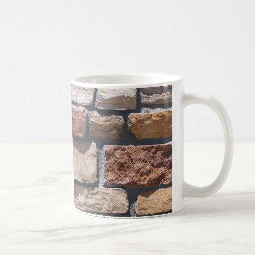 Pared de piedra tazas