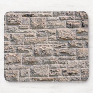 Pared de piedra TEXTURIZADA Mousepads rústico